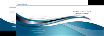 exemple depliant 2 volets  4 pages  web design bleu fond bleu couleurs froides MIF72794