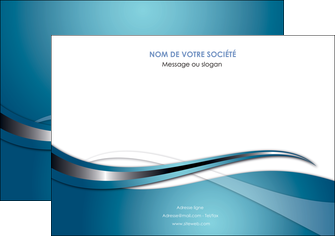 cree affiche web design bleu fond bleu couleurs froides MIF72798