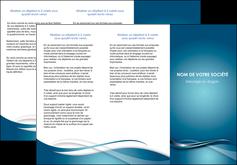 faire depliant 3 volets  6 pages  web design bleu fond bleu couleurs froides MIF72804