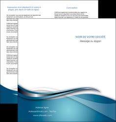 exemple depliant 2 volets  4 pages  web design bleu fond bleu couleurs froides MIF72806