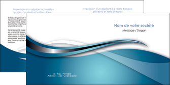 personnaliser modele de depliant 2 volets  4 pages  web design bleu fond bleu couleurs froides MIF72808