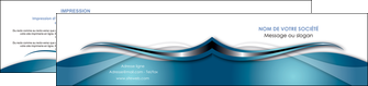 faire depliant 2 volets  4 pages  web design bleu fond bleu couleurs froides MIF72814