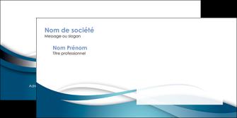 imprimer enveloppe web design bleu fond bleu couleurs froides MIF72816