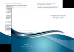 personnaliser modele de depliant 2 volets  4 pages  web design bleu fond bleu couleurs froides MIF72818