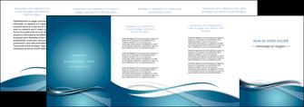 creation graphique en ligne depliant 4 volets  8 pages  web design bleu fond bleu couleurs froides MLGI72820