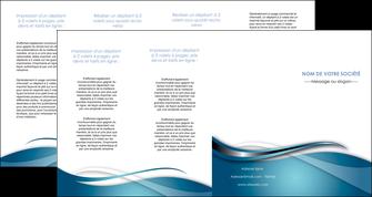 faire modele a imprimer depliant 4 volets  8 pages  web design bleu fond bleu couleurs froides MIF72824