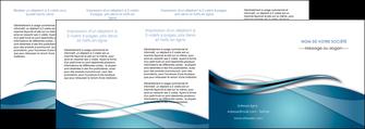 creation graphique en ligne depliant 4 volets  8 pages  web design bleu fond bleu couleurs froides MIF72826