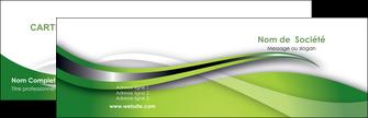 impression carte de visite web design vert fond vert verte MLGI73064