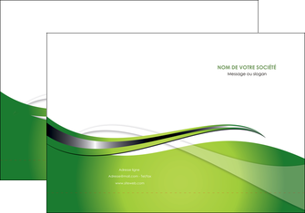 maquette en ligne a personnaliser pochette a rabat web design vert fond vert verte MLGI73070