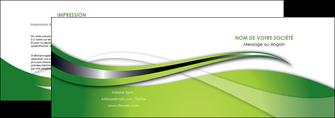 realiser depliant 2 volets  4 pages  web design vert fond vert verte MLGI73072