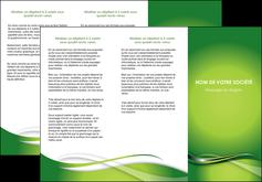 maquette en ligne a personnaliser depliant 3 volets  6 pages  web design vert fond vert verte MLGI73082