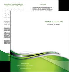 imprimerie depliant 2 volets  4 pages  web design vert fond vert verte MLGI73084