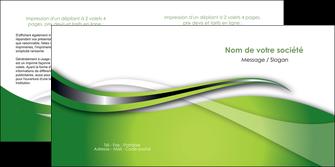 impression depliant 2 volets  4 pages  web design vert fond vert verte MLGI73086