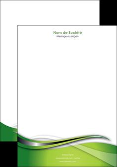 modele en ligne tete de lettre web design vert fond vert verte MLGI73088