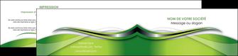 imprimerie depliant 2 volets  4 pages  web design vert fond vert verte MLGI73092