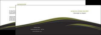 modele depliant 2 volets  4 pages  web design noir fond noir image de fond MLGI73124