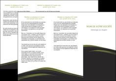 faire modele a imprimer depliant 3 volets  6 pages  web design noir fond noir image de fond MLGI73134