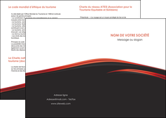 realiser depliant 2 volets  4 pages  web design noir fond noir image de fond MIF73218