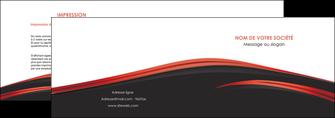impression depliant 2 volets  4 pages  web design noir fond noir image de fond MIF73228