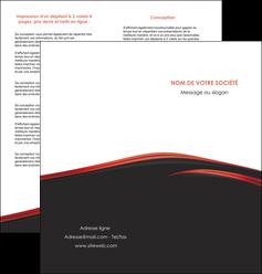 cree depliant 2 volets  4 pages  web design noir fond noir image de fond MIF73240