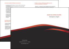 realiser depliant 2 volets  4 pages  web design noir fond noir image de fond MLIP73252