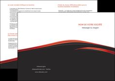 realiser depliant 2 volets  4 pages  web design noir fond noir image de fond MIF73252