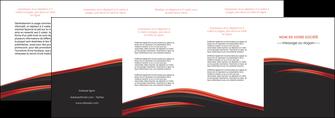 personnaliser modele de depliant 4 volets  8 pages  web design noir fond noir image de fond MIF73254