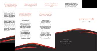 exemple depliant 4 volets  8 pages  web design noir fond noir image de fond MLIP73258
