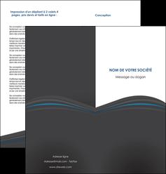 cree depliant 2 volets  4 pages  web design gris fond gris fond gris metallise MIF73344