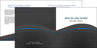 maquette en ligne a personnaliser depliant 2 volets  4 pages  web design gris fond gris fond gris metallise MIF73346