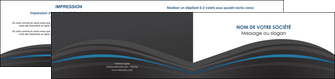 imprimer depliant 2 volets  4 pages  web design gris fond gris fond gris metallise MIF73352