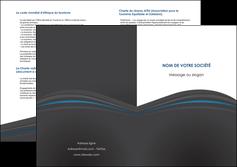 modele depliant 2 volets  4 pages  web design gris fond gris fond gris metallise MIF73356