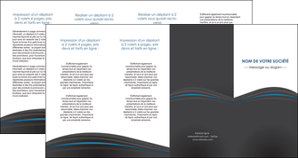 faire modele a imprimer depliant 4 volets  8 pages  web design gris fond gris fond gris metallise MIF73362