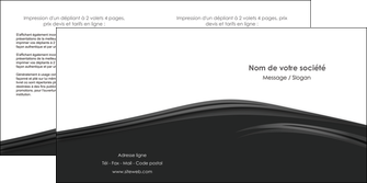 modele depliant 2 volets  4 pages  web design gris fond gris metal MLGI73504