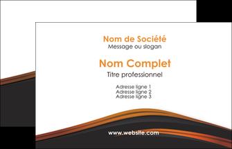 maquette en ligne a personnaliser carte de visite web design gris fond gris orange MLGI73578