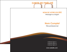 cree carte de visite web design gris fond gris orange MIF73588