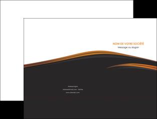 personnaliser modele de pochette a rabat web design gris fond gris orange MLGI73592