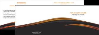 cree depliant 2 volets  4 pages  web design gris fond gris orange MLGI73596
