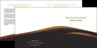 personnaliser modele de depliant 2 volets  4 pages  web design gris fond gris orange MLGI73608