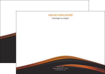 exemple flyers web design gris fond gris orange MIF73612