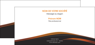 realiser carte de correspondance web design gris fond gris orange MIF73616