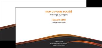 realiser carte de correspondance web design gris fond gris orange MLGI73616