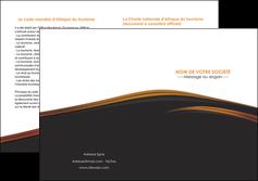 creer modele en ligne depliant 2 volets  4 pages  web design gris fond gris orange MLGI73618