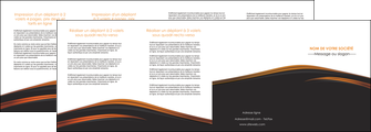 imprimer depliant 4 volets  8 pages  web design gris fond gris orange MIF73622