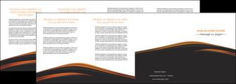 imprimer depliant 4 volets  8 pages  web design gris fond gris orange MLGI73622