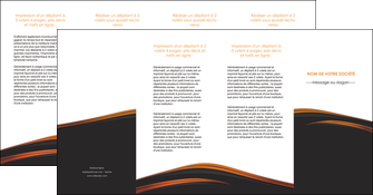 exemple depliant 4 volets  8 pages  web design gris fond gris orange MIF73626