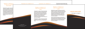 modele en ligne depliant 4 volets  8 pages  web design gris fond gris orange MIF73628
