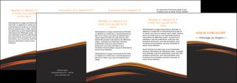 modele en ligne depliant 4 volets  8 pages  web design gris fond gris orange MLGI73628