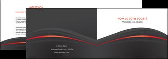 creer modele en ligne depliant 2 volets  4 pages  web design gris fond gris gris metallise MLIP73964