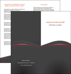 creer modele en ligne depliant 2 volets  4 pages  web design gris fond gris gris metallise MLGI73976